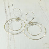 Concentric Silver Hoop Earrings
