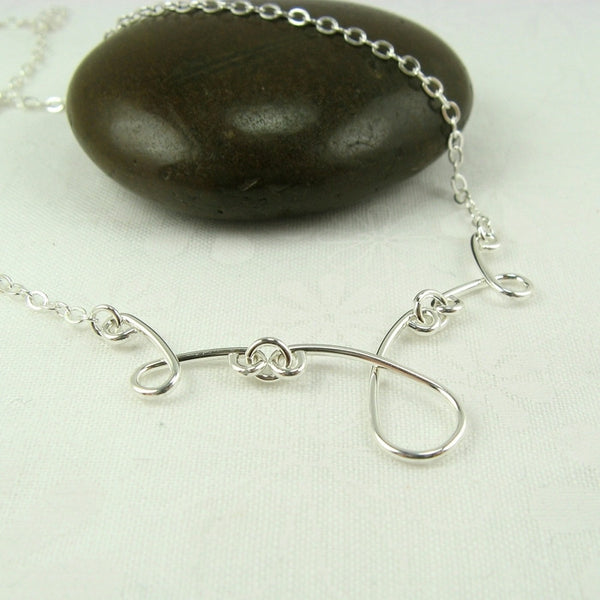 Contessa Silver Necklace - Cloverleaf Jewelry