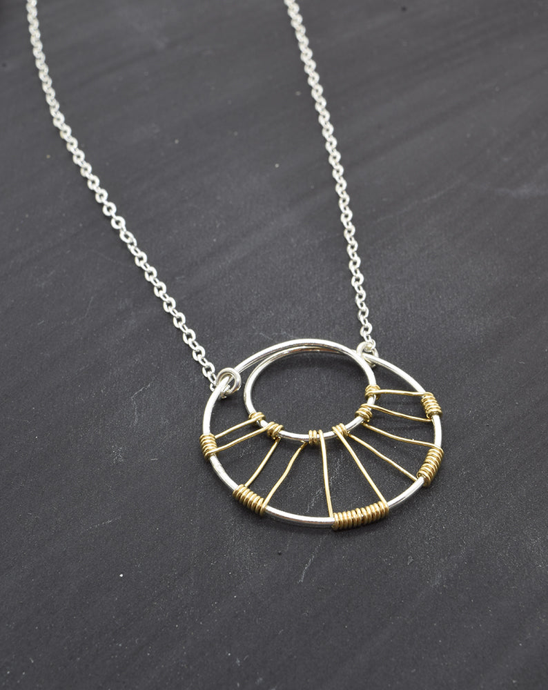 Corona Silver and Gold Necklace