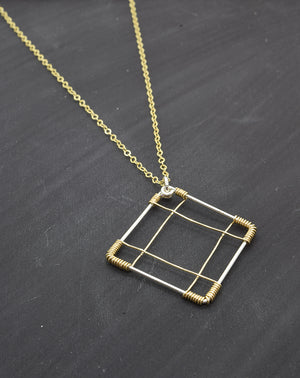 Deco Silver and Gold Necklace