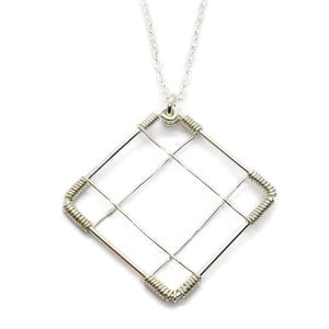 Deco Silver Necklace - Cloverleaf Jewelry