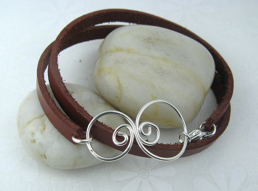 Eddy Leather Wrap Bracelet