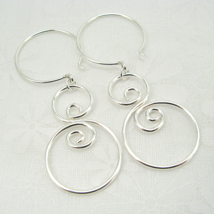 Eddy Silver Earrings