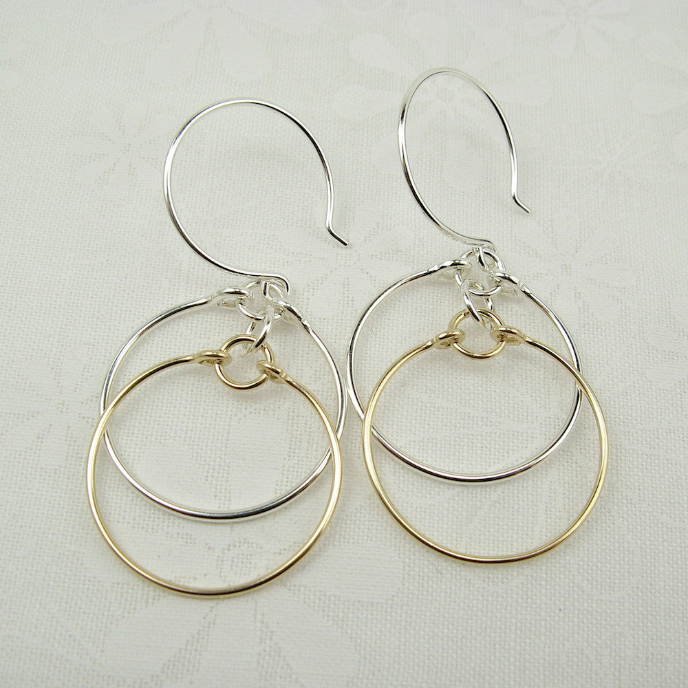 Eclipse Silver and Gold Earrings