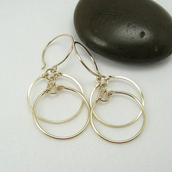Eclipse Gold Earrings - Cloverleaf Jewelry