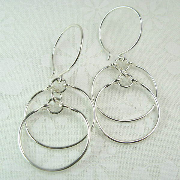 Eclipse Silver Earrings - Cloverleaf Jewelry