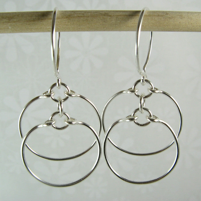 Eclipse Silver Earrings