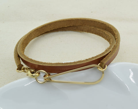 Elan Leather Wrap Bracelet