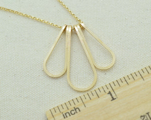 Elan Multi-drop Gold Necklace