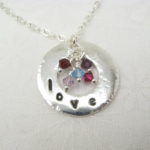 Embrace Silver Necklace for Mothers or Grandmothers - Cloverleaf Jewelry