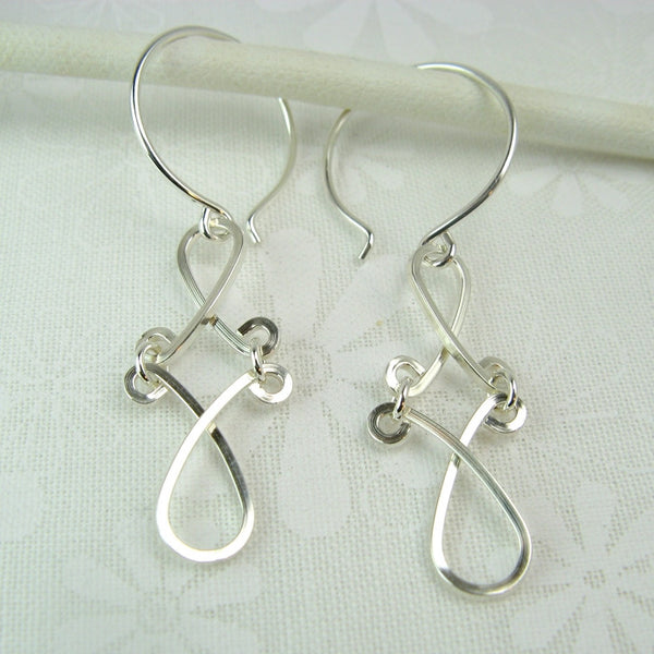 Enchant Silver Earrings - Cloverleaf Jewelry
