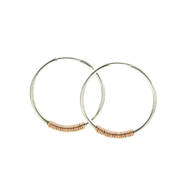 Endless Silver Hoop Earrings - Cloverleaf Jewelry