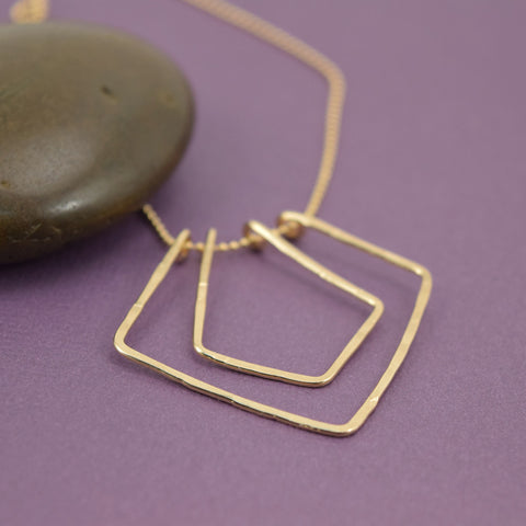 Geometric Gold Necklace - Cloverleaf Jewelry