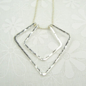 Geometric Silver Necklace