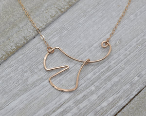 Ginkgo Leaf Rose Gold Necklace