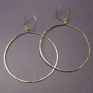Halo Gold Hoop Earrings, Large