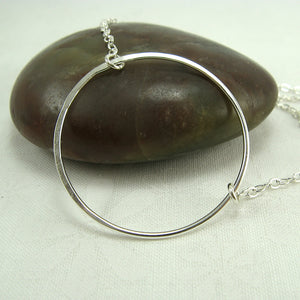 Halo Silver Circle Necklace