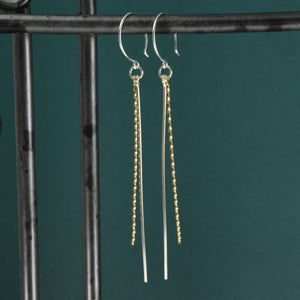 Icicles Silver and Gold Earrings