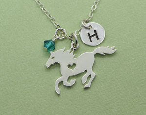 Sterling Silver Horse Charm Necklace, Equestrian Pendant, Gift for Tween Daughter, Present for Friend, Gift for Girl, Horse Lover