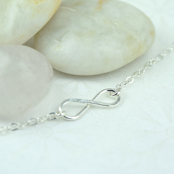 Infinity Silver Necklace - Cloverleaf Jewelry