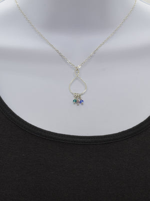 Infinity Sterling Silver Birthstone Necklace