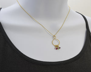 Infinity Gold Birthstone Necklace