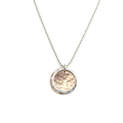 Kinetic Silver and Rose Gold Necklace