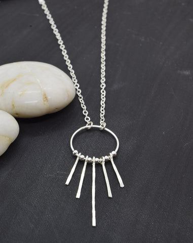 Lakota Silver Necklace - Cloverleaf Jewelry