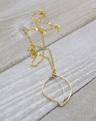 Leaf Gold Necklace - Cloverleaf Jewelry