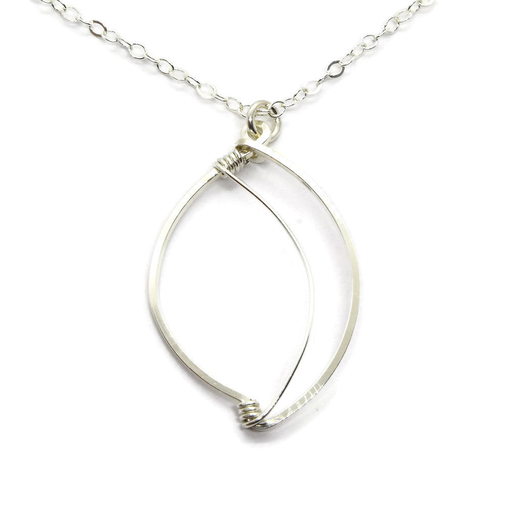 Leaf Silver Necklace - Cloverleaf Jewelry