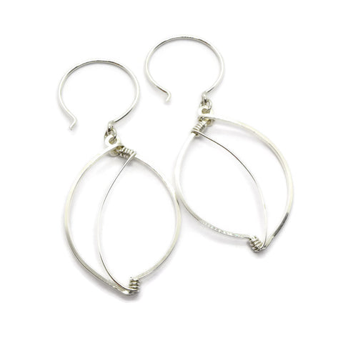 Leaves Silver Earrings - Cloverleaf Jewelry