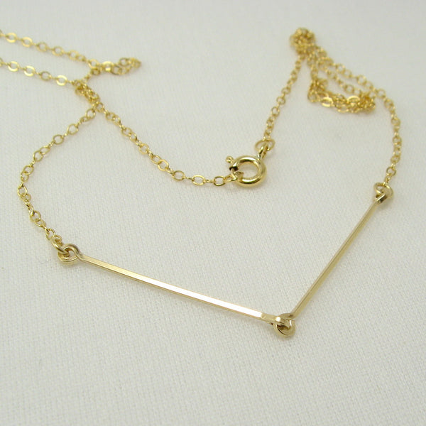 Linked Gold Necklace - Cloverleaf Jewelry