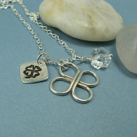 Lucky Clover Silver Necklace - Cloverleaf Jewelry