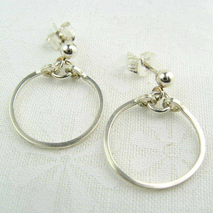 Meridian Silver Ball Post Earrings - Cloverleaf Jewelry