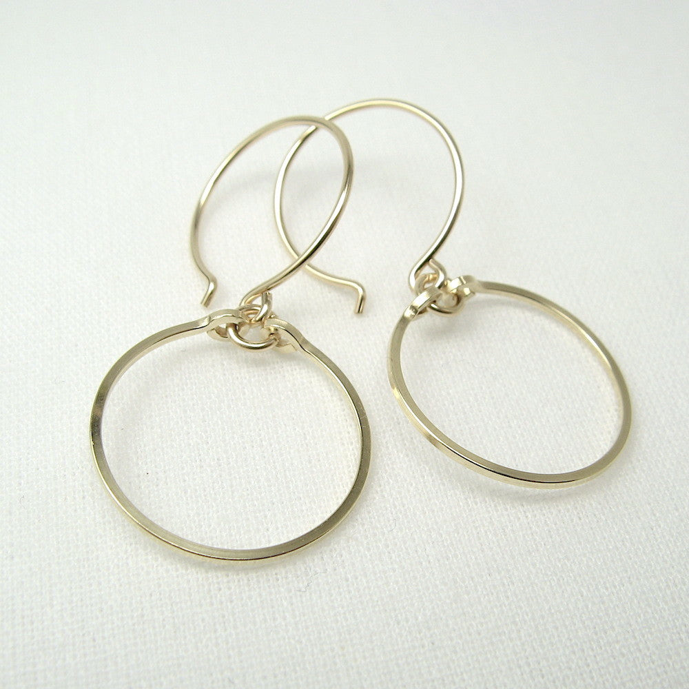 Meridian Gold Earrings - Cloverleaf Jewelry