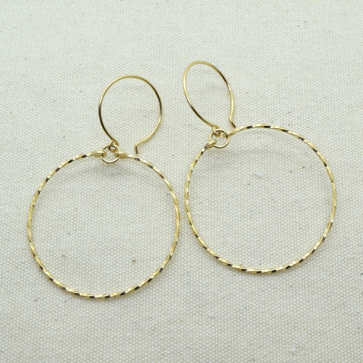 Meridian Twist Gold Earrings