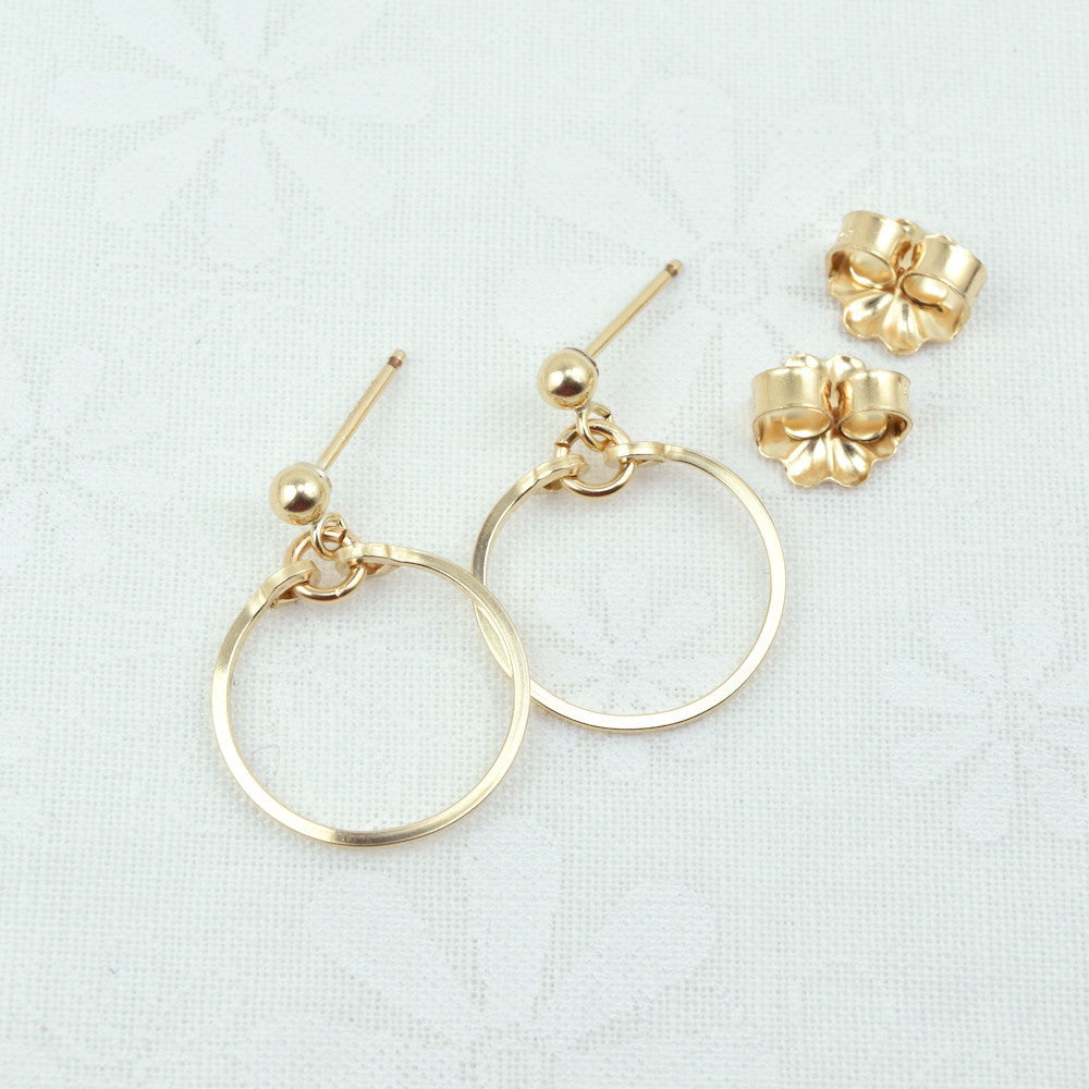 Meridian Gold Ball Post Earrings - Cloverleaf Jewelry