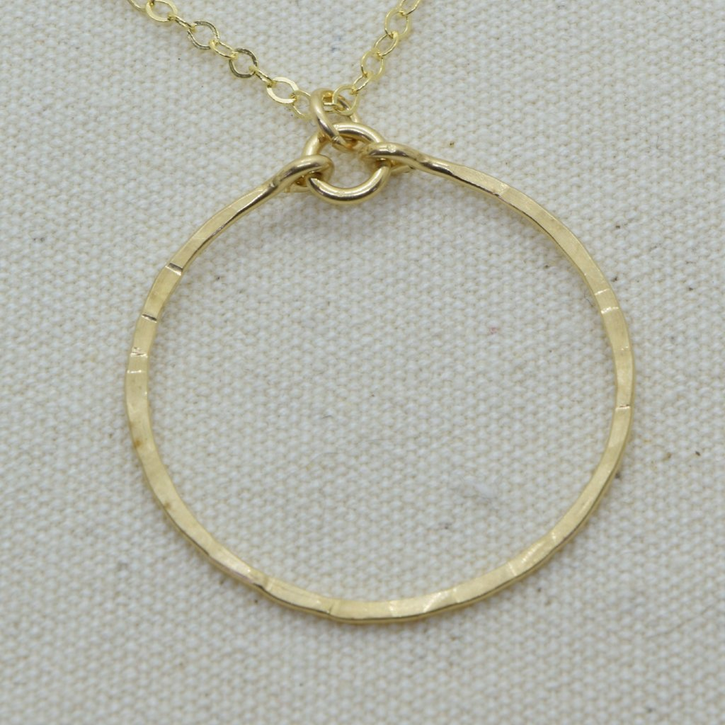 Meridian Gold Circle Pendant or Necklace