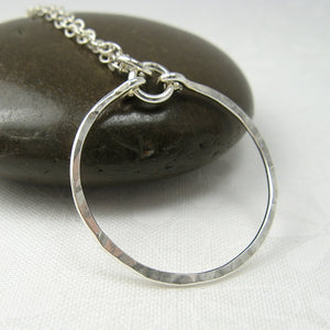 Meridian Silver Circle Pendant or Necklace