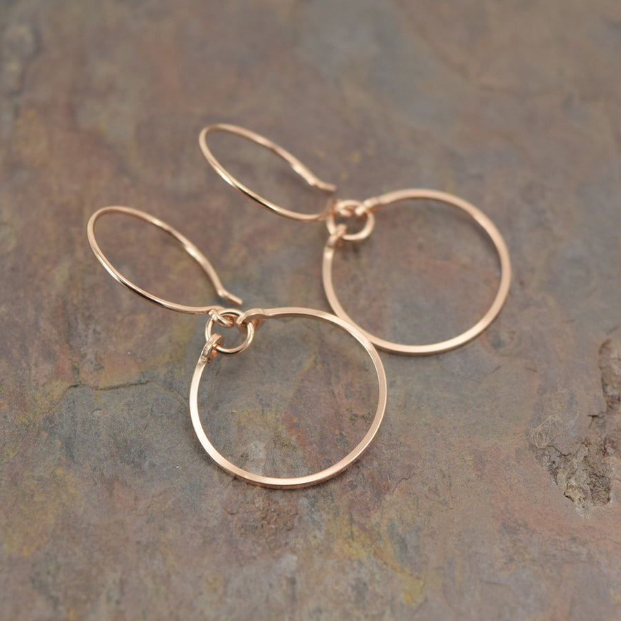 Meridian Rose Gold Earrings - Cloverleaf Jewelry