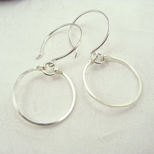 Meridian Silver Earrings - Cloverleaf Jewelry
