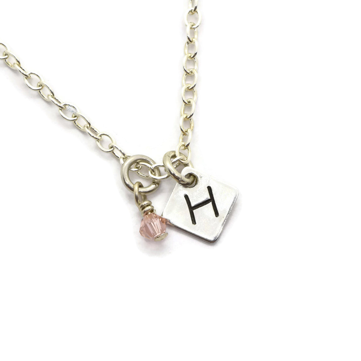 Min-I-nitials Silver Family Necklace - Cloverleaf Jewelry