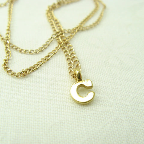 Monogram Gold Initial Necklace - Cloverleaf Jewelry