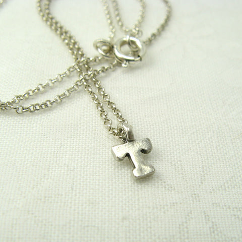 Monogram Silver Initial Necklace - Cloverleaf Jewelry