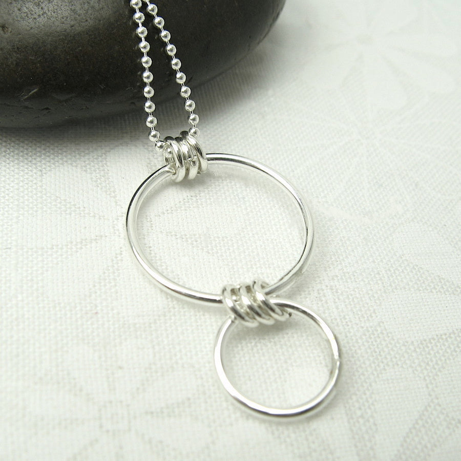 Nexus Silver Vertical Necklace