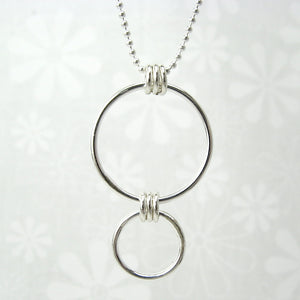 Nexus Silver Vertical Necklace - Cloverleaf Jewelry