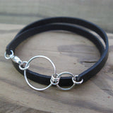 Nexus Leather Wrap Bracelet