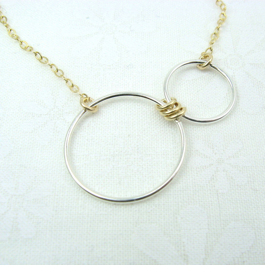 Nexus Gold and Silver Horizontal Necklace