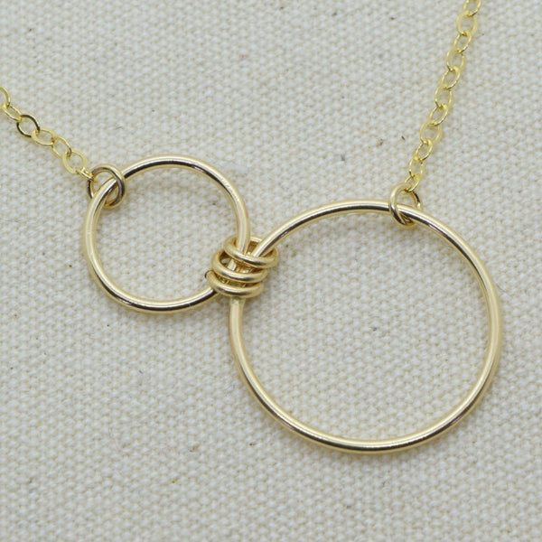 Nexus Gold Horizontal Necklace