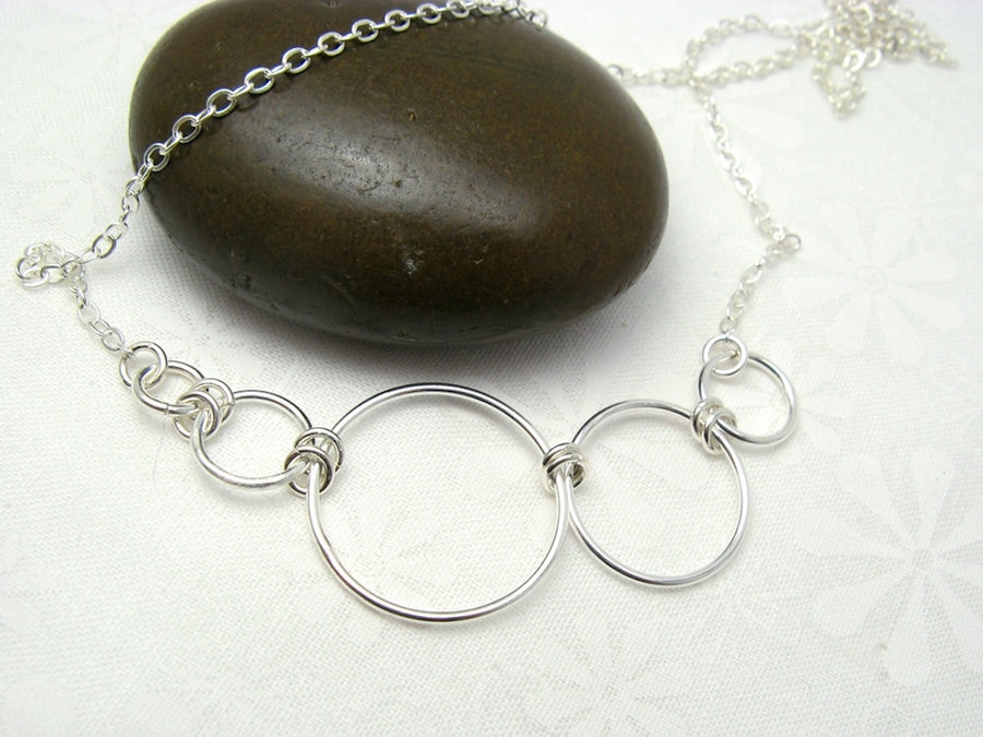 Nexus Asymmetrical Silver Necklace